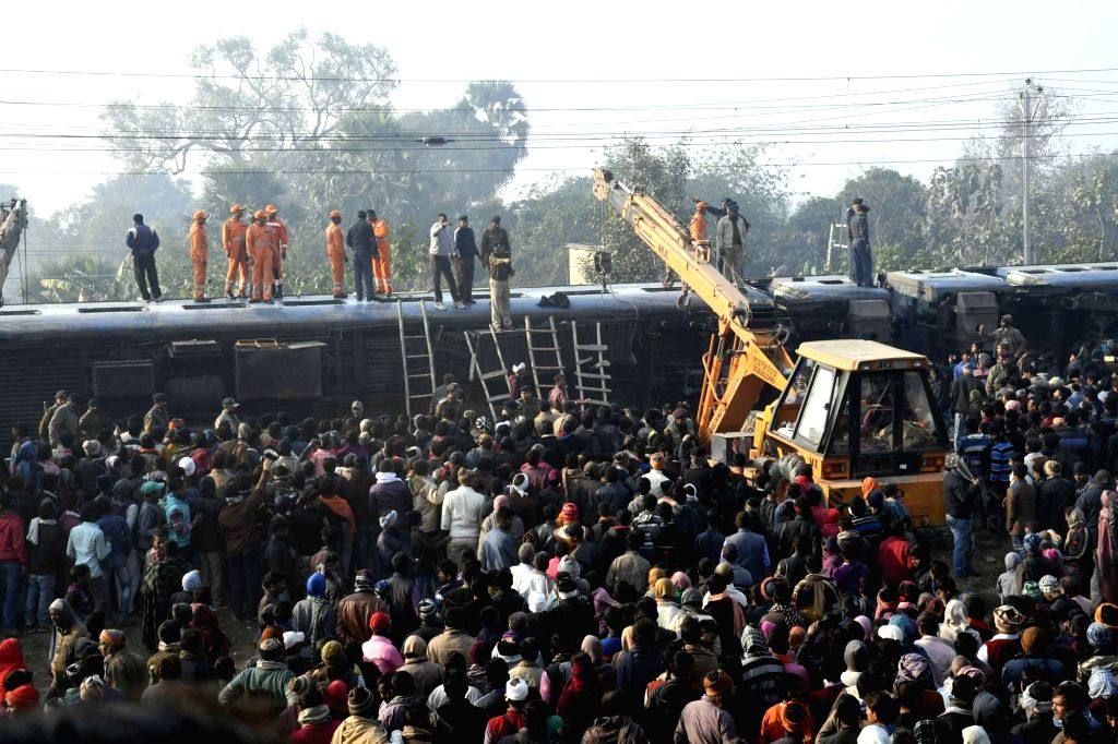 Rescue and relief operations underway after 11 coaches of the Delhi-bound Seemanchal Express derailed in Bihar's Vaishali district, killing seven people and injuring 27 others, on Feb 3, ...