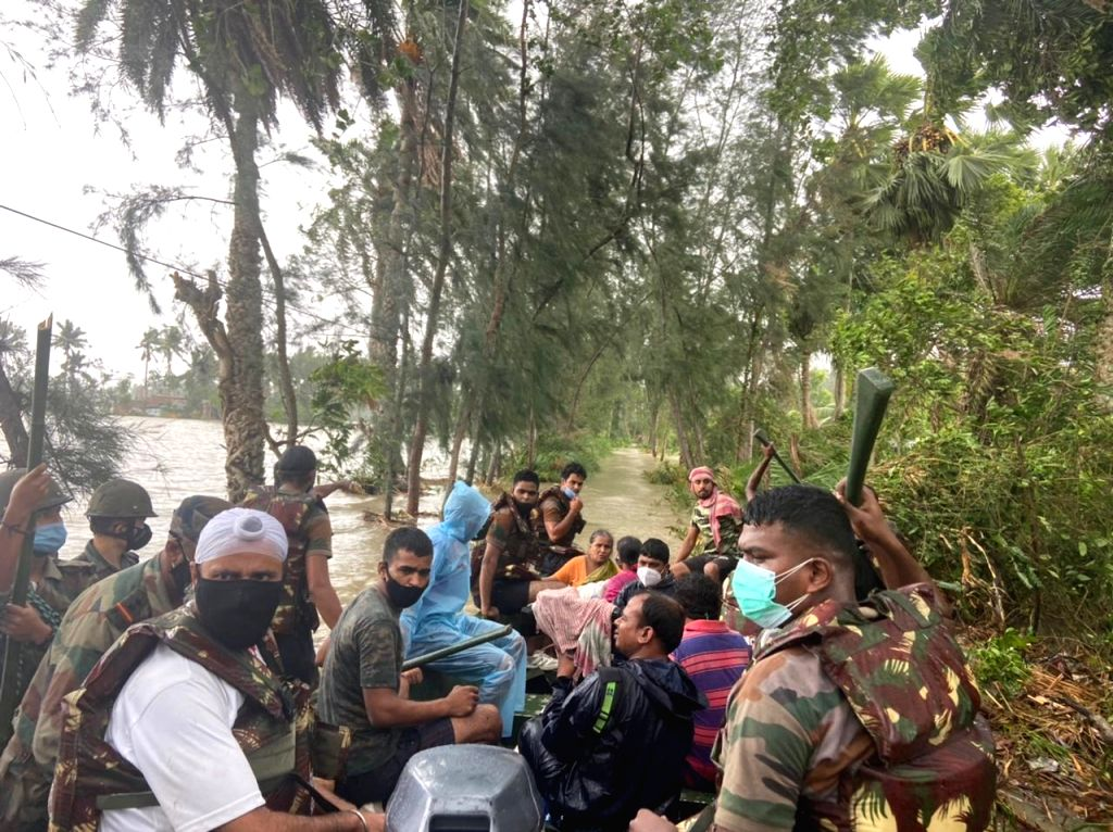 Rescue operation by Army in Talgachari, East Midnapore in West Bengal on Wednesday, May 26, 2021.