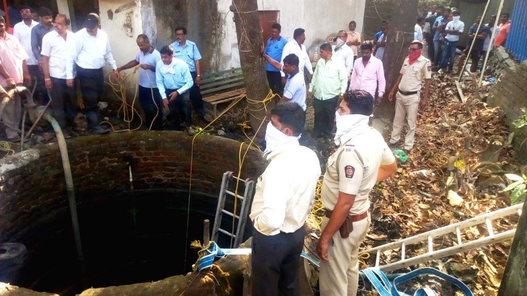 Rescue operation underway after five persons including three cleaners and two firemen who went on a rescue mission drowned after they got stuck in accumulated sludge in a well at Kalyan in ...