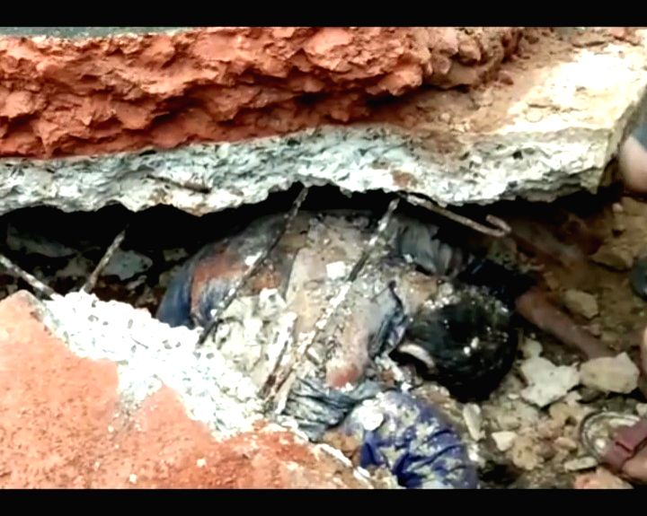 Rescue operations underway after a wall collapsed following heavy rain killing three people in Bihar's Bhagalpur district, on Sep 29, 2019.