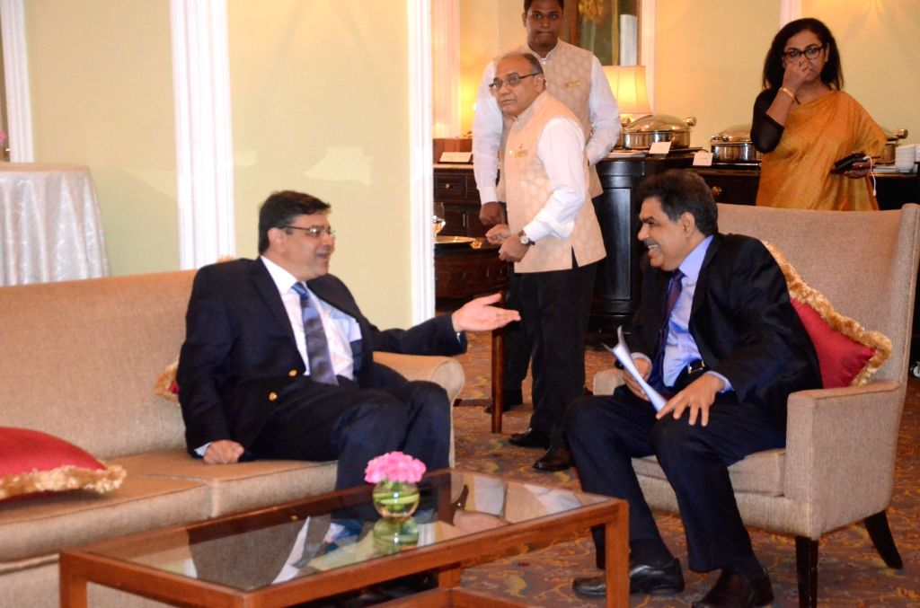 """Reserve Bank of India Governor Urjit Patel in a conversation with Securities and Exchange Board of India (Sebi) chairman Ajay Tyagi during the """"National Conference on Insolvency and ... - Urjit Patel"""