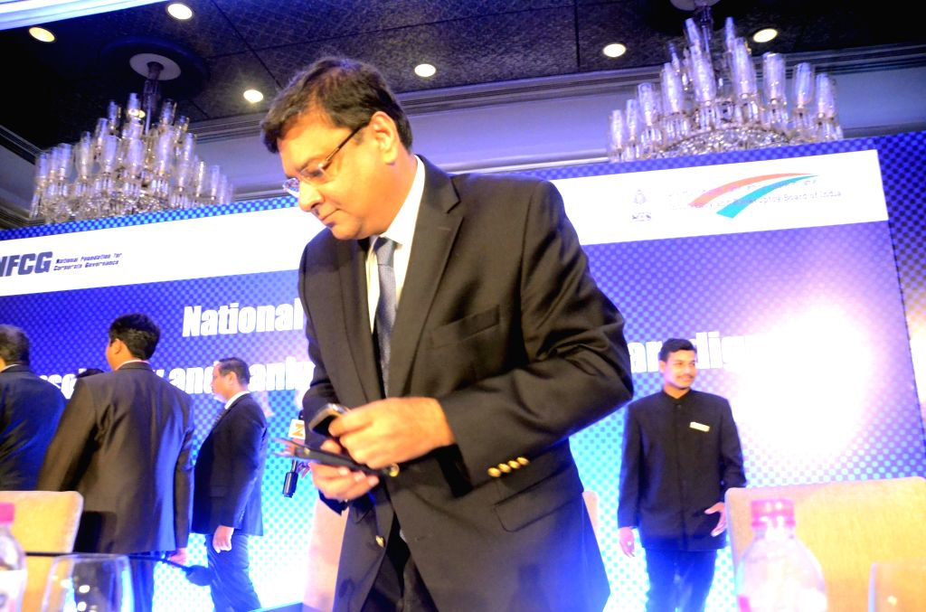 """Reserve Bank of India Governor Urjit R Patel during """"National Conference on Insolvency and Bankruptcy: Changing Paradigm"""" in Mumbai on Aug 19, 2017. - Urjit R Patel"""