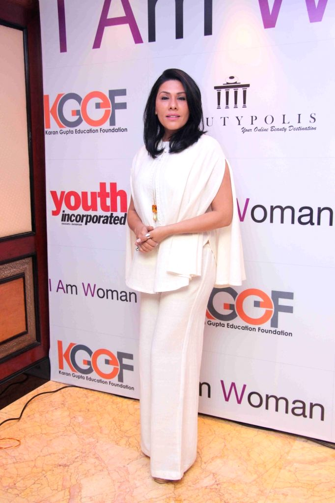 Reshma Merchant, wife of Bollywood music director Sulaiman Merchant during I am Woman event, in Mumbai on April 5, 2016. - Sulaiman Merchant