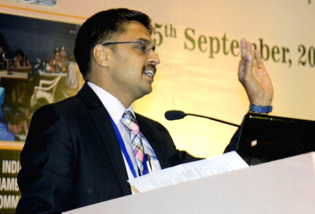 Resurgent India Ltd. MD Jyoti Prakash Gadia addresses during 11th Banking Summit 2019 in Kolkata on Aug 5, 2019.