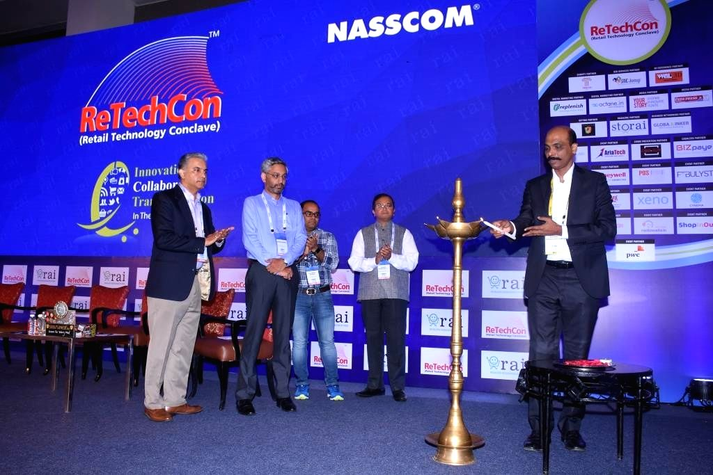 Retailers Association of India CEO Kumar Rajagopalan at the inauguration of  ReTechCon in New Delhi, on June 15, 2017.