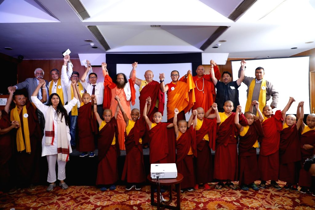 Retired Indian Army officer and defence expert, G.D. Bakshi, Parmarth Niketan Ashram President and spiritual head Pujya Chindanand Swami, Ladakh MP Jamyang Tsering Namgyal and other ... - D. Bakshi