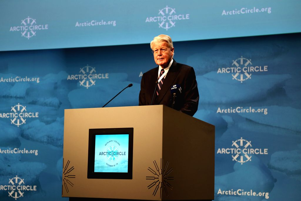 President of Iceland Olafur Ragnar Grimsson delivers a speech at Arctic Circle Assembly in ReykJavik, capital of Iceland, Oct. 16, 2015.The three-day Arctic Circle ... - Zhang Ming