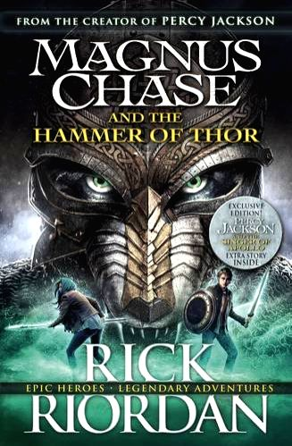 Rick Riordan\'s latest adventure - the second dealing with the Norse Gods, in which the quest is for the Thunder God\'s stolen weapon.