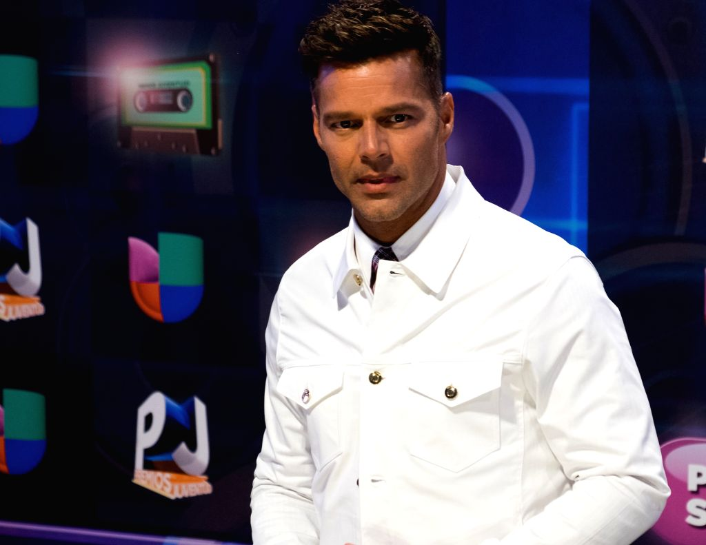 Ricky Martin poses in the red carpet of the Premios Juventud 2015 Awards in Coral Gables, Florida, US, 16 July 2015.