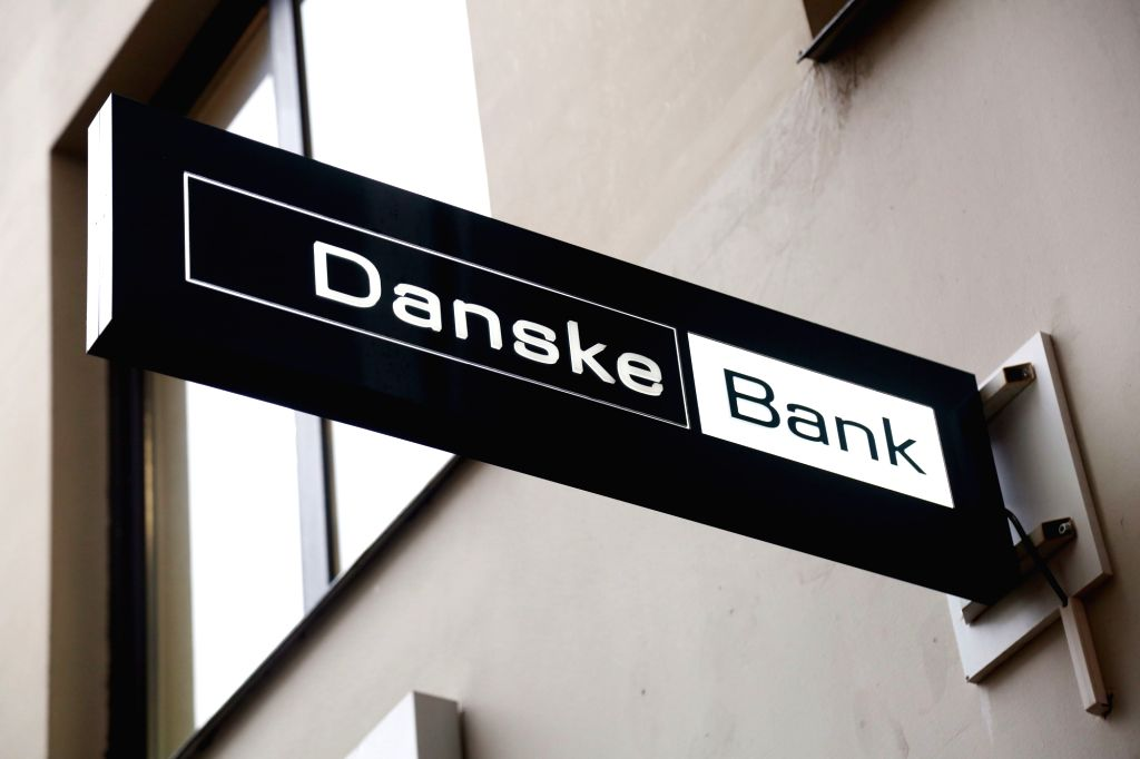 RIGA, Feb. 20, 2019 - Photo taken on Feb. 20, 2019 shows the Latvian branch of the Danske Bank in Riga, Latvia. Denmark's Danske Bank is folding operations in Russia and Baltic states, including ...
