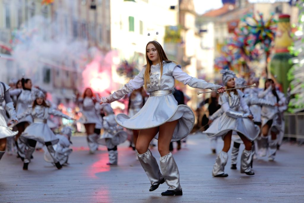 RIJEKA (CROATIA), Feb. 11, 2018 People take part in the International Carnival Parade in Rijeka, Croatia, on Feb. 11, 2018.