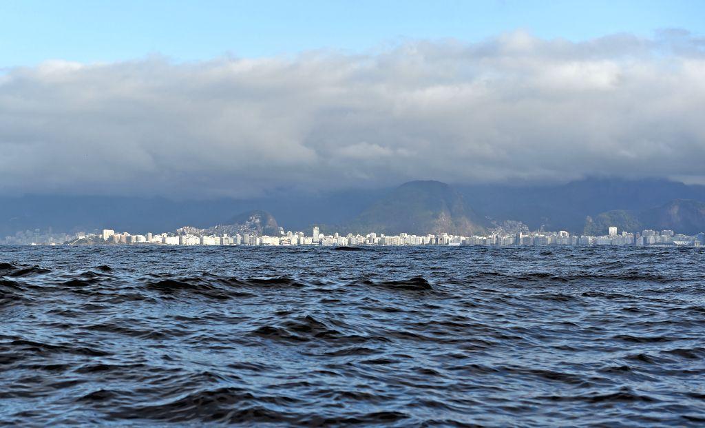 RIO DE JANEIRO, Aug. 1, 2016 - Photo taken on July 31, 2016 shows the view of Copacabana Bay in Rio de Janeiro, Brazil.