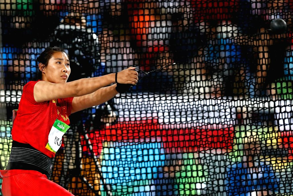 RIO DE JANEIRO, Aug. 12, 2016 - China's Liu Tingting competes during the women's hammer throw qualification at the 2016 Rio Olympic Games in Rio de Janeiro, Brazil, on Aug. 12, 2016.