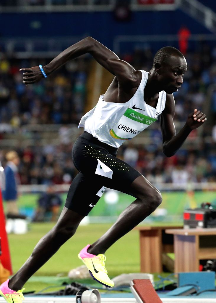 RIO DE JANEIRO, Aug. 12, 2016 - Nyang James Chiengjiek of Refugee Olympic Team competes during the men's 400m heat at the 2016 Rio Olympic Games in Rio de Janeiro, Brazil, on Aug. 12, 2016.