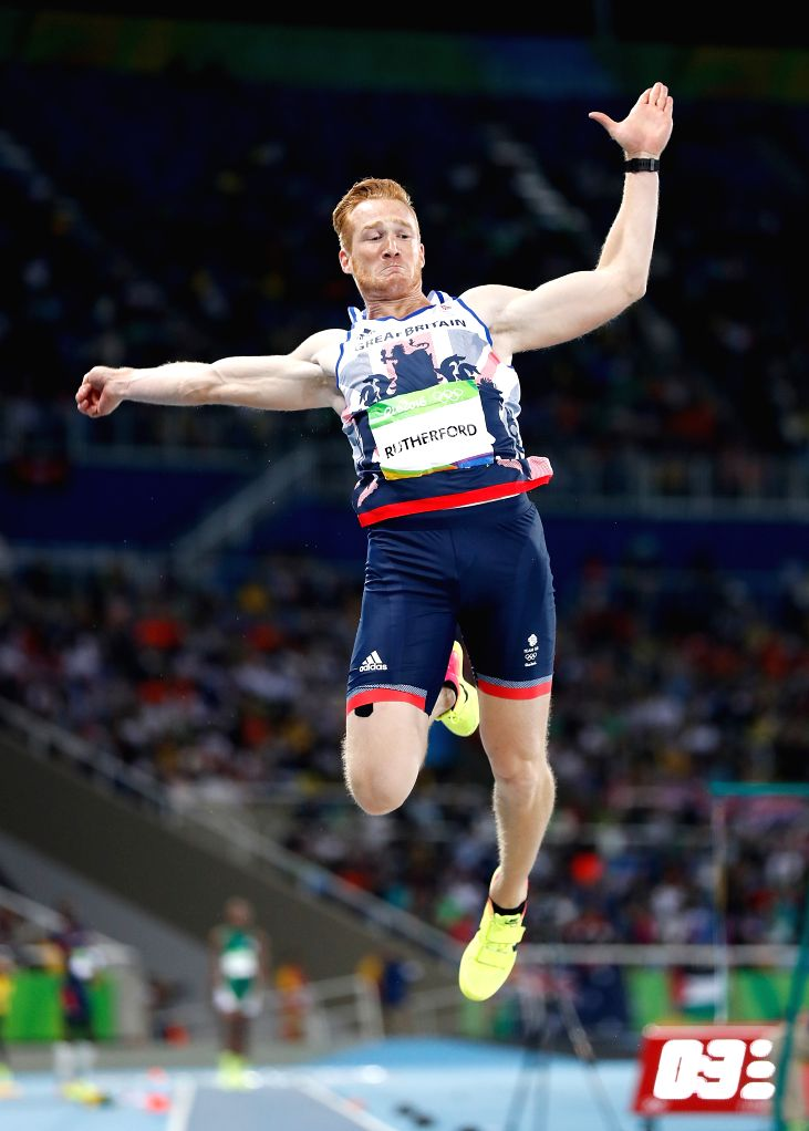 RIO DE JANEIRO, Aug. 13, 2016 - Greg Rutherford of Great Britain competes during the men's long jump final at the 2016 Rio Olympic Games in Rio de Janeiro, Brazil, on Aug. 13, 2016. Greg Rutherford ...