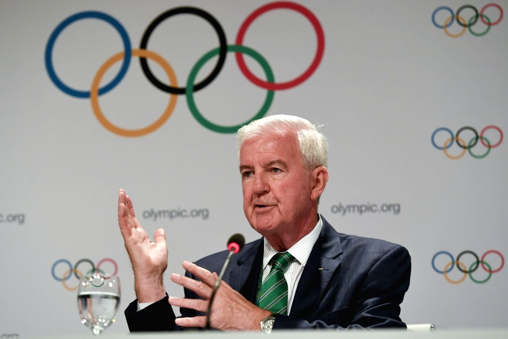 RIO DE JANEIRO, Aug. 2, 2016 - Craig Reedie, president of WADA speaks at the press conference of 129th IOC session in Rio de Janeiro, Brazil on Aug. 2, 2016. The 129th session of the International ...