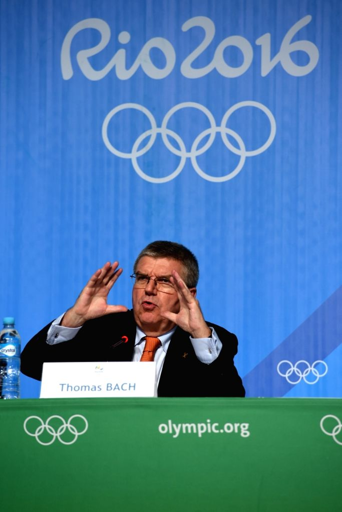 RIO DE JANEIRO, Aug. 4, 2016 - International Olympic Committee (IOC) President Thomas Bach addresses a press conference of 129th IOC session in Rio de Janeiro, Brazil on Aug. 4, 2016.