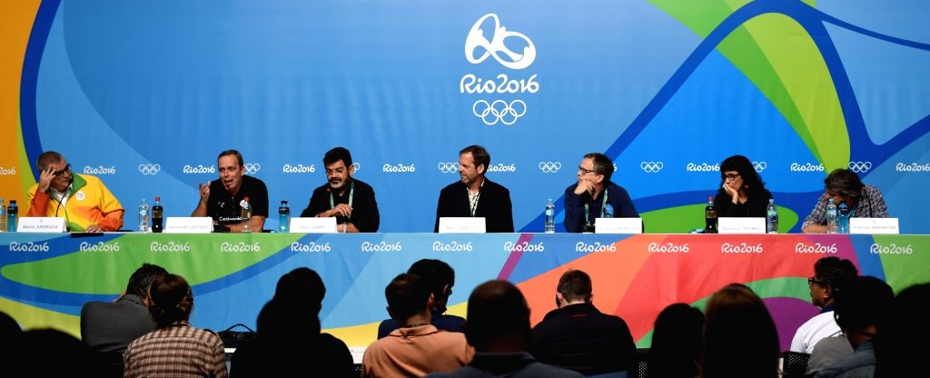 RIO DE JANEIRO, Aug. 4, 2016 - Photo taken on Aug. 4, 2016 shows the press conference for the opening ceremony at the Main Press Center held by the Rio 2016 Organizing Committee for the Olympic Games ...