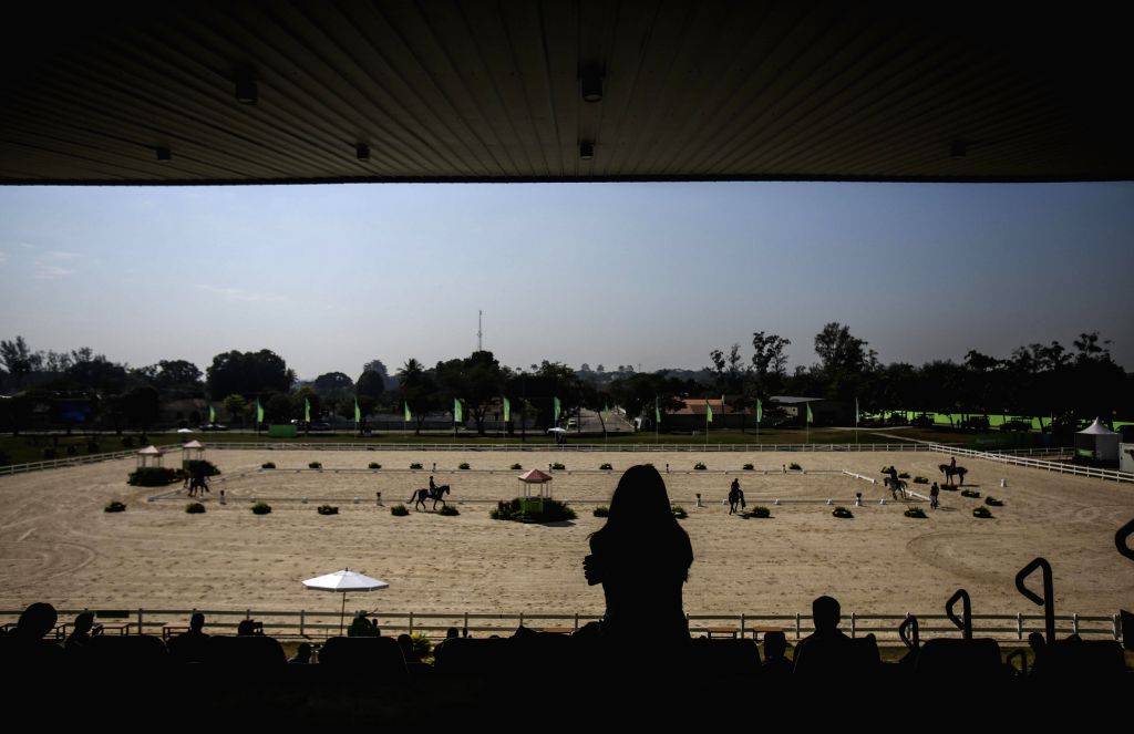 Rio de Janeiro: General view during the opening of the Equine Center built for the Rio 2016 Olympic Games during its opening at Deodoro neighborhood, in the nortern area of Rio de Janeiro, Brazil, 06 ...