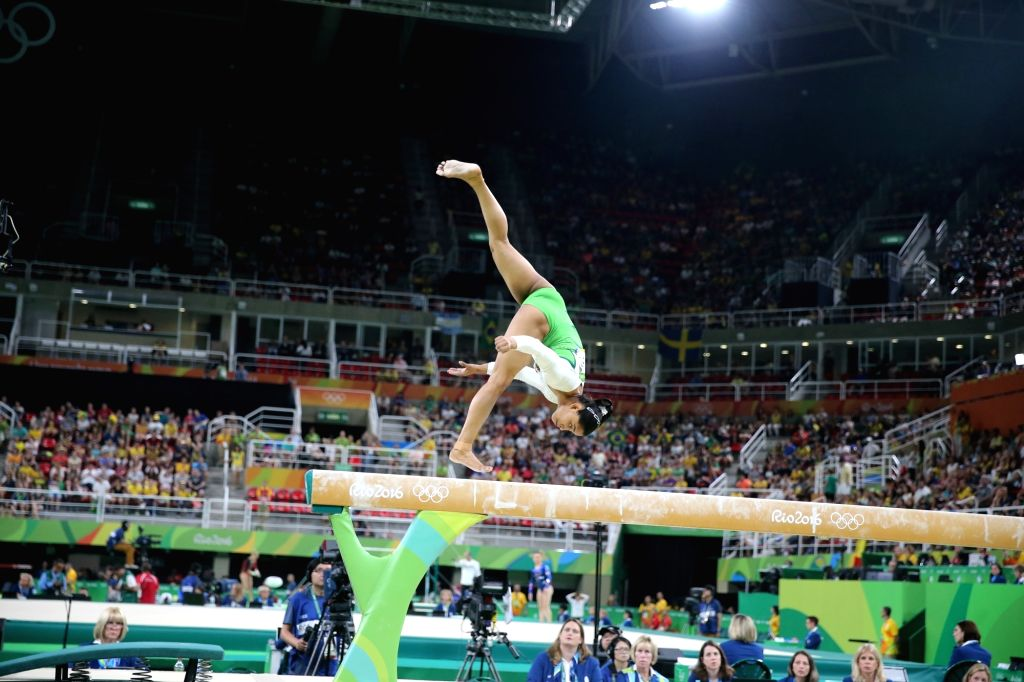 Rio De Janeiro: Indian gymnast Dipa Karmakar performs at artistic gymnastics  event at the Rio Olympic in Rio de Janeiro on Aug. 7, 2016. The 22-year-old qualified for the final round in the ...