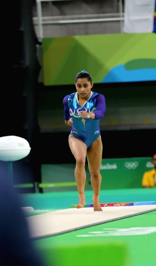 Rio de Janeiro: Indian gymnast Dipa Karmakar competing at the  women`s vault final of the Olympic Games in Rio de Janeiro on Aug. 14, 2016.