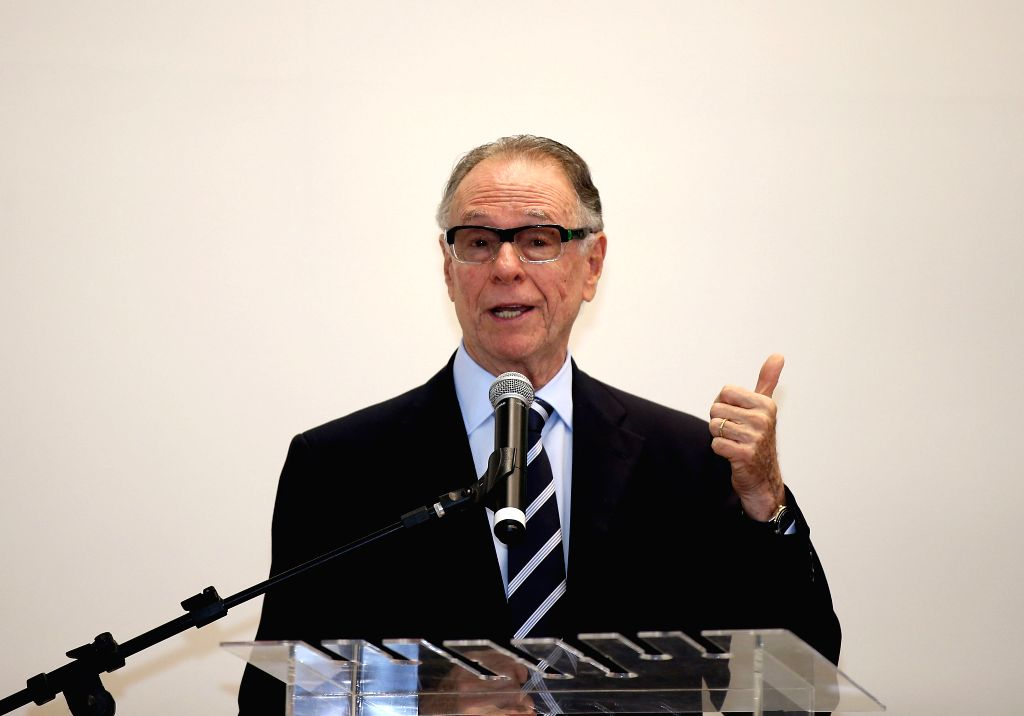 RIO DE JANEIRO, July 6, 2016 - Carlos Arthur Nuzman, president of the Rio 2016 Organizing Committee for the Olympic and Paralympic Games, addresses the press conference of the inauguration of the ...