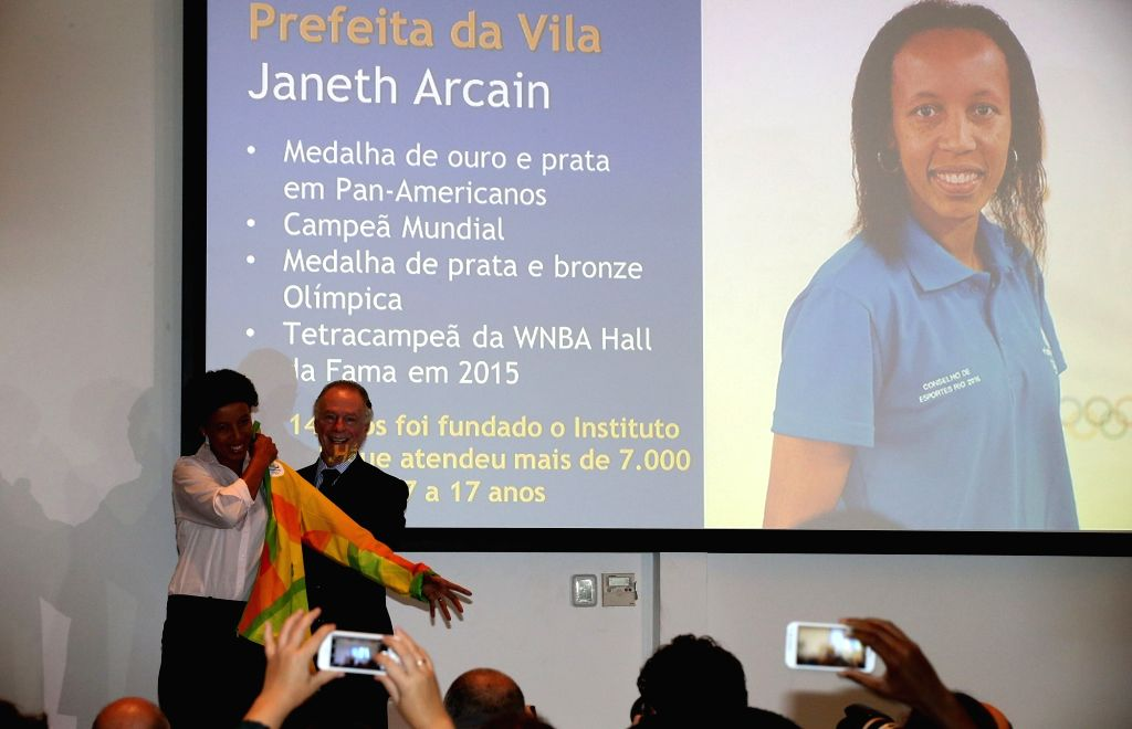 RIO DE JANEIRO, June, 24, 2016 Carlos Arthur Nuzman (R), president of the Rio 2016 Organising Committee for the Olympic and Paralympic Games, appoints Brazilian basketball star Janeth ...