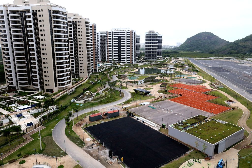 RIO DE JANEIRO, June, 24, 2016 Photo taken on June 23, 2016 shows the Rio 2016 Olympic village in Rio de Janeiro, Brazil. Rio 2016 unveiled athletes' village to mark Olympic Day on ...