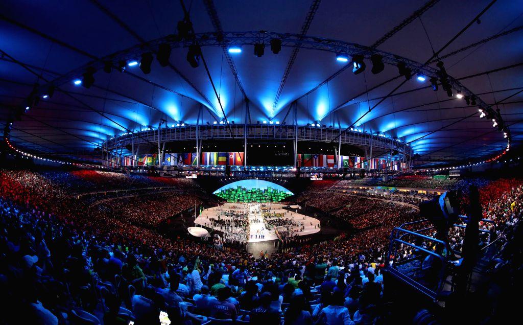 RIO DE JANEIRO, Photo Shows the opening ceremony of the 2016 Rio Olympic Games at the Maracana Stadium in Rio de Janeiro, Brazil. (Xinhua/Wu Wei)(dh/IANS)