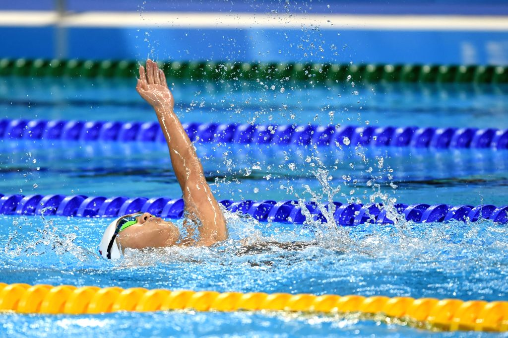 RIO DE JANEIRO, Sept. 12, 2016 - Liu Benying of China competes during the Men's 200m Freestyle S2 final of swimming event at the 2016 Rio Paralympic Games in Rio de Janeiro, Brazil, Sept. 11, 2016. ...