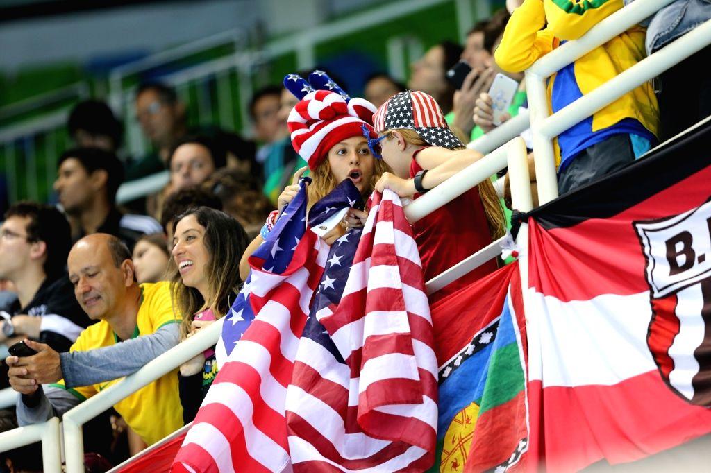 Rio De Janeiro: Spectators at Rio 2016 Olympics stadium in Rio de Janeiro, Brazil on Aug 14, 2016.
