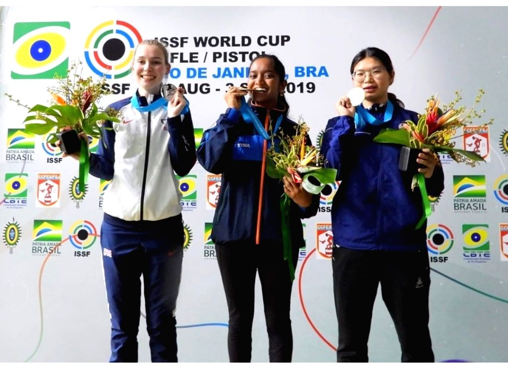 Rio de Janerio: Elavenil Valarivan bagged her first ever senior gold medal in the women's 10m Air Rifle Event at the ongoing ISSF World Cup Rifle/Pistol Stage in Brazil.