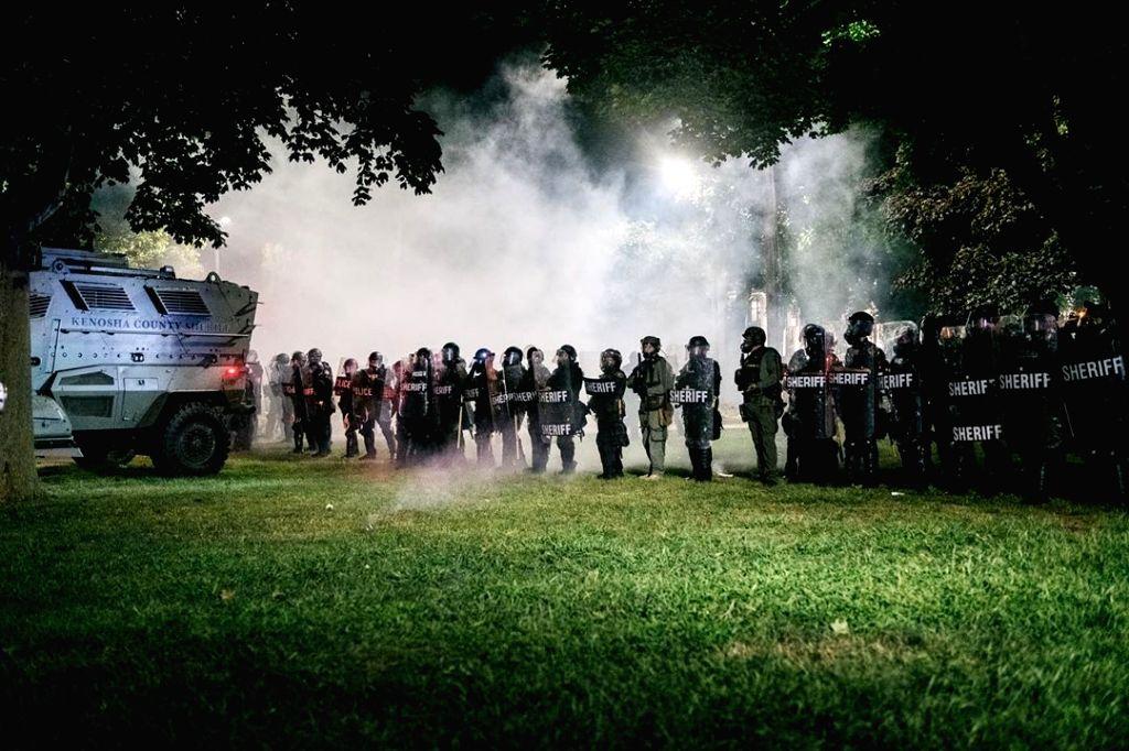 Riots in Kenosha, Wisconsin.