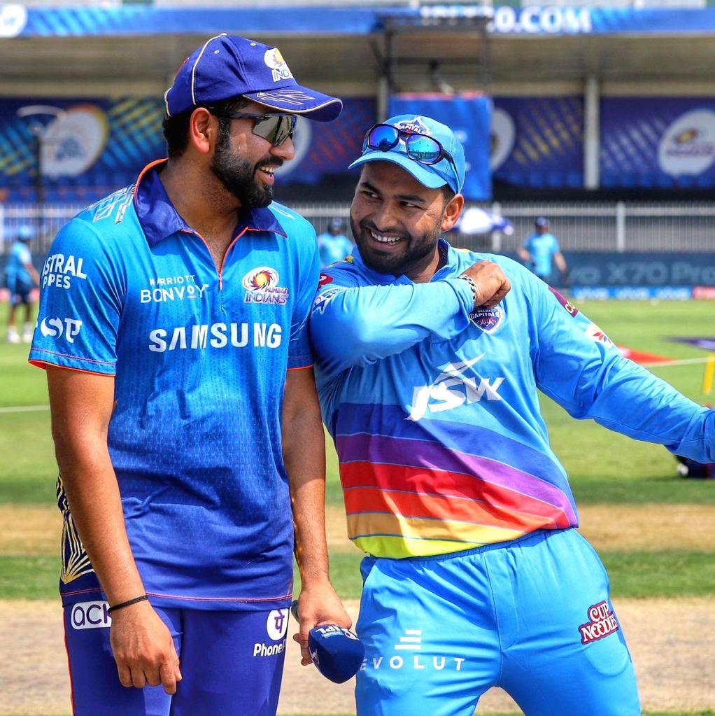 Rishabh Pant and Rohit Sharma. (credit :Delhi capitals Twitter) - Rohit Sharma