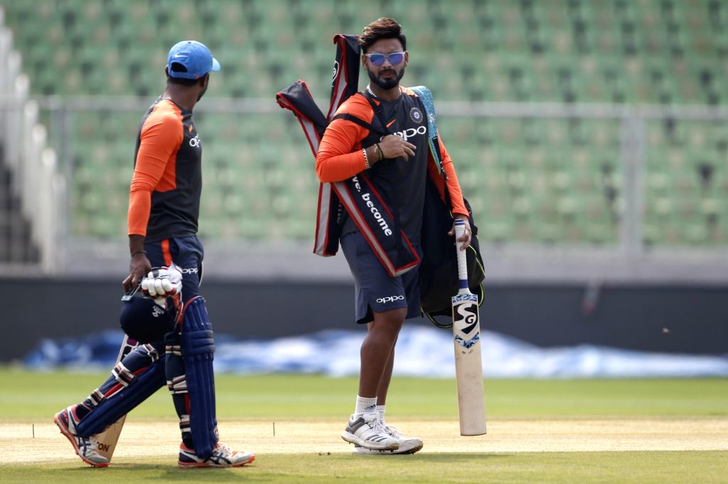 Rishabh Pant (C). (Photo: Surjeet Yadav/IANS) - Surjeet Yadav