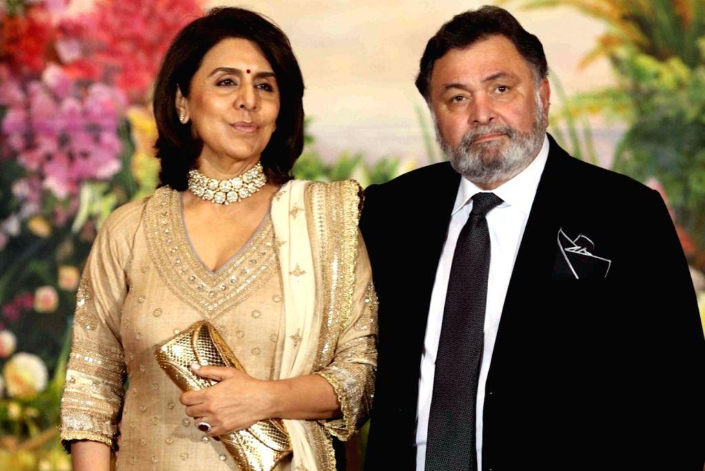 Rishi Kapoor and his wife Neetu Kapoor. - Rishi Kapoor and Neetu Kapoor