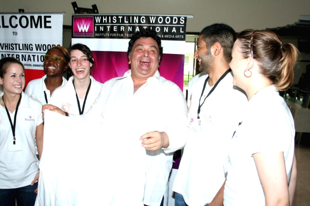 Rishi Kapoor lectures at Whistling Woods.