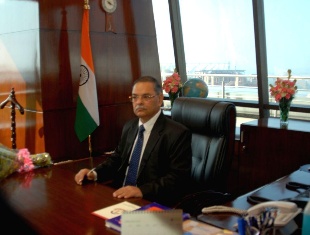 Rishi Kumar Shukla take charge as new director of Central Bureau of Investigation (CBI) in New Delhi on Feb. 4, 2019. - Rishi Kumar Shukla