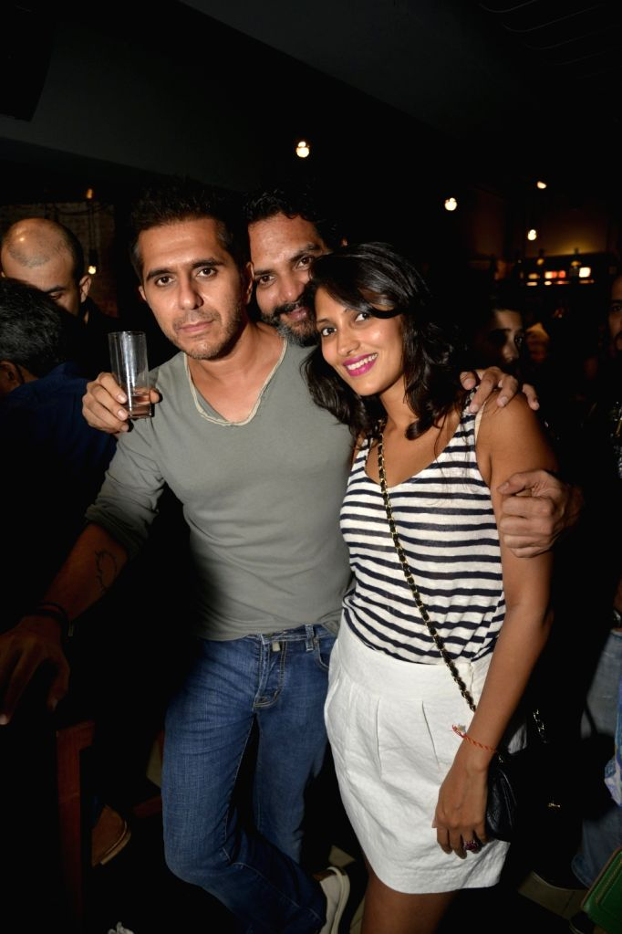 Ritesh and Dolly Sidhwani at Radio Bar in Mumbai on April 17, 2016.