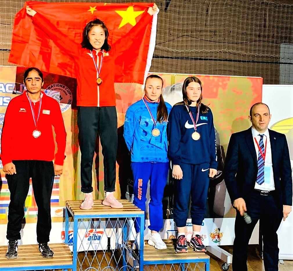 Ritu Grewal won silver medal in 51 Kg category.