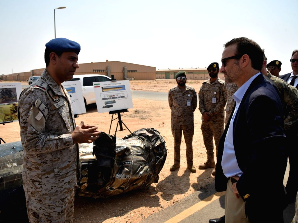 RIYADH, Sept. 5, 2019 - U.S. Assistant Secretary of Near Eastern Affairs David Schenker (R) visits a military facility in Al Kharj, south of Riyadh, Saudi Arabia, on Sept. 5, 2019. David Schenker ...