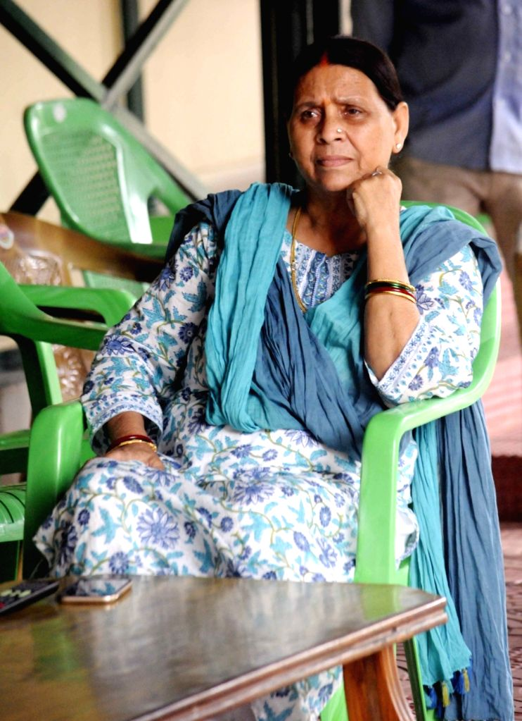 RJD leader Rabri Devi during a press conference in Patna on Aug 1, 2017.