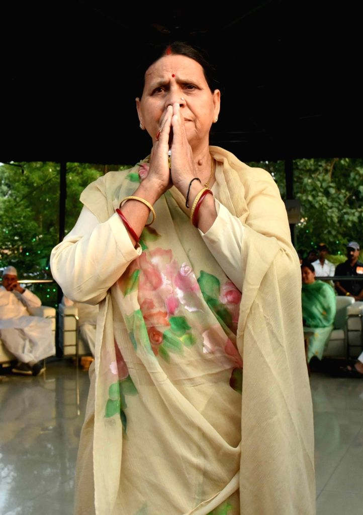 RJD leader Rabri Devi during an iftar party, in Patna on June 2, 2019.