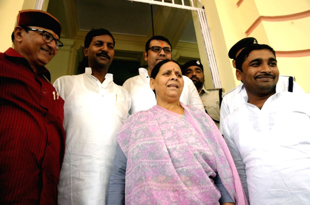 RJD legislator Rabri Devi arrives at Bihar Assembly in Patna on Aug 2, 2016.