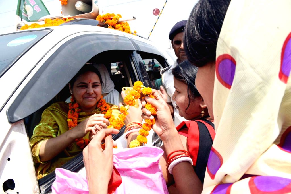 RJD Lok Sabha candidate from Patliputra, Misa Bharti during an election campaign for the forthcoming Lok Sabha polls, in Patna, on May 5, 2019.