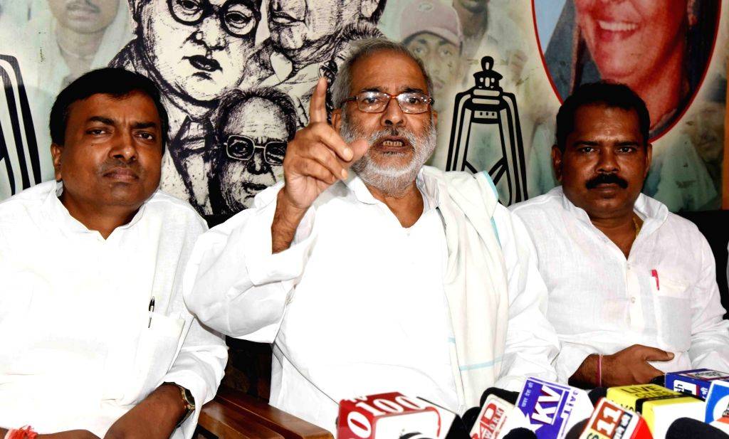 RJD national vice-president Raghuvansh Prasad Singh addresses a press conference in Patna on Sep 15, 2019. - Raghuvansh Prasad Singh