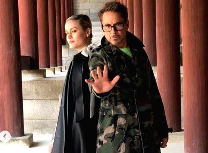 Robert Downey Jr. and Brie Larson.