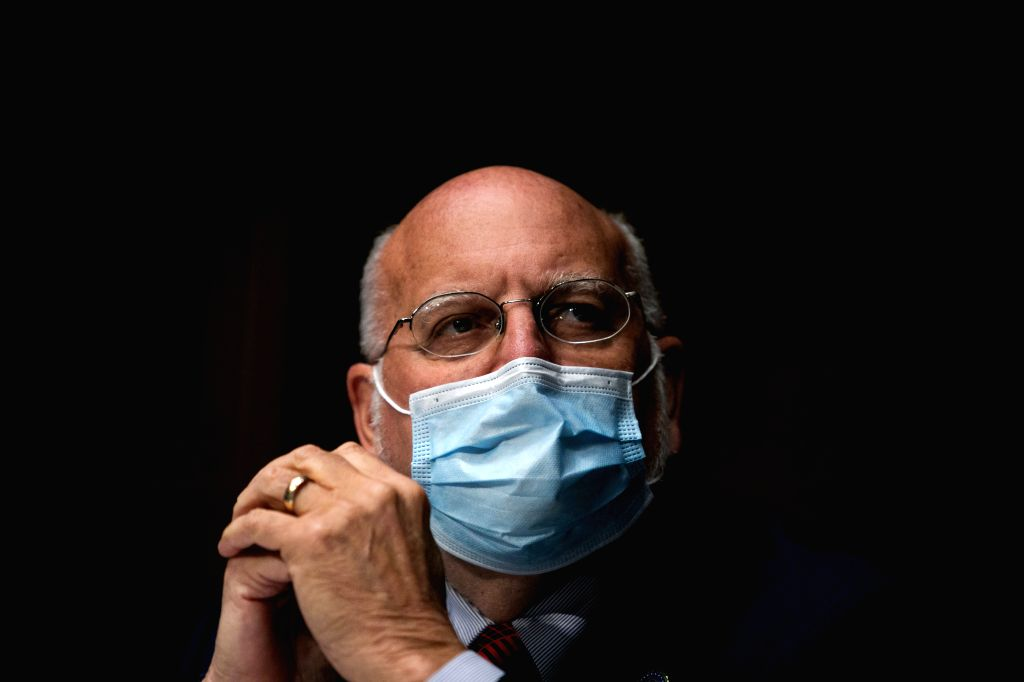 Robert Redfield, director of the U.S. Centers for Disease Control and Prevention (CDC), attends a hearing of U.S. Senate Subcommittee on Labor, Health and Human ...