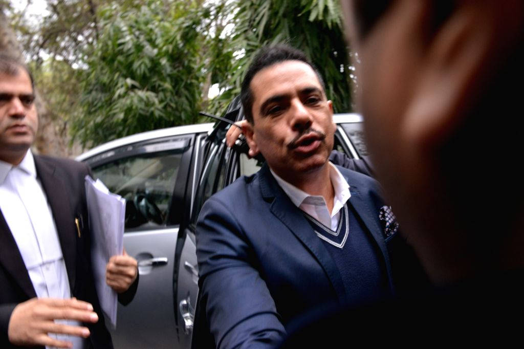 Robert Vadra, brother-in-law of Congress President Rahul Gandhi, arrives to appear before Enforcement Directorate in New Delhi on Feb 7, 2019. - Rahul Gandhi