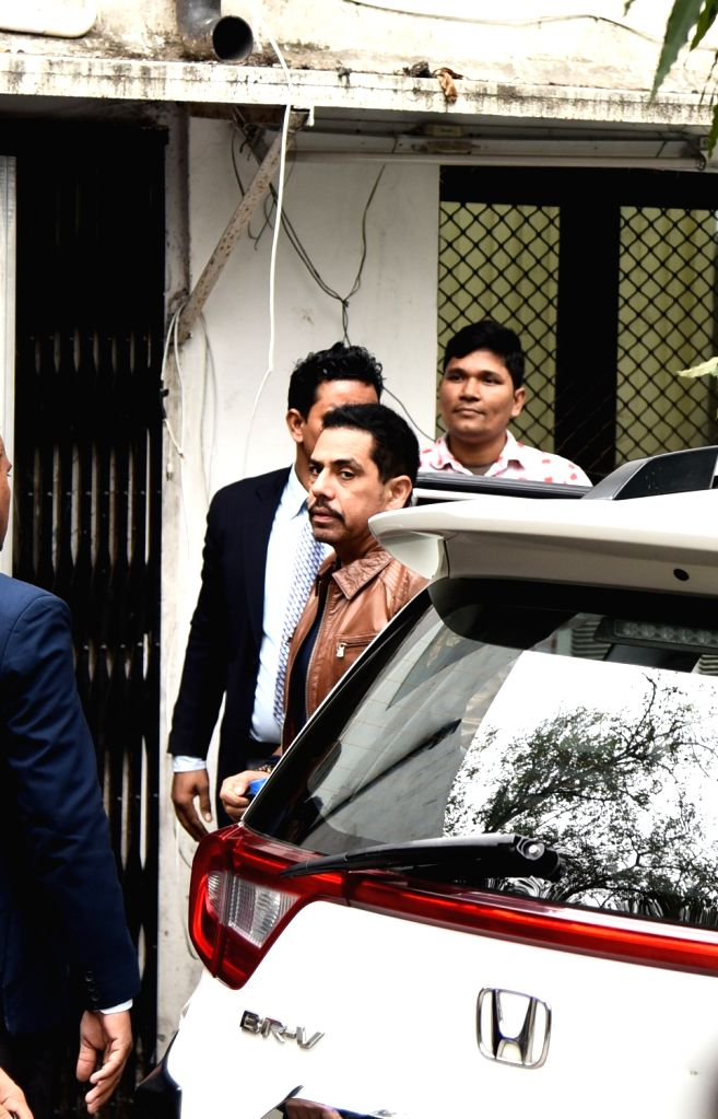 Robert Vadra, brother-in-law of Congress President Rahul Gandhi arrives to appear before Enforcement Directorate (ED) in connection with a money laundering case in New Delhi on Feb 20, ... - Rahul Gandhi